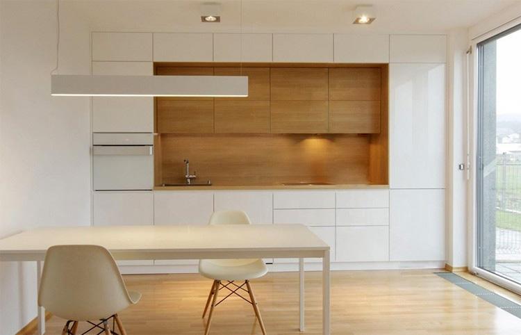 Прямая кухня под потолок 3м